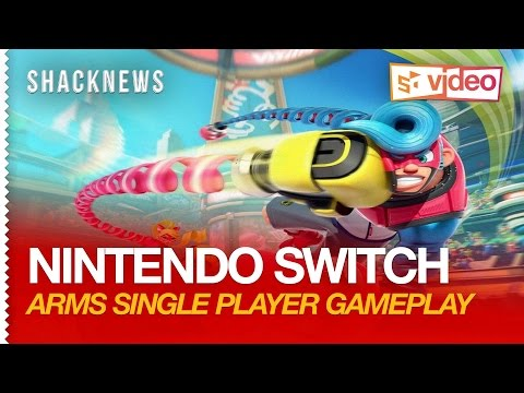Nintendo Switch: ARMS Single Player Gameplay