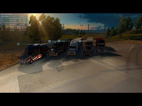 Закрытый Конвой по American Truck Simulator от MEGA TRANS