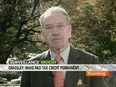 Grassley Says Bush Tax Cuts Should Be Made Permanent