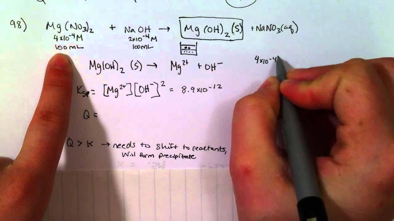 Q: Will a Precipitate Form (Z.15.97) - YouTube