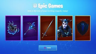 The NEW ICE KING REWARDS in Fortnite...