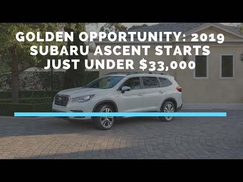 2019 Subaru Ascent Touring – First Look – 2017 LAAS
