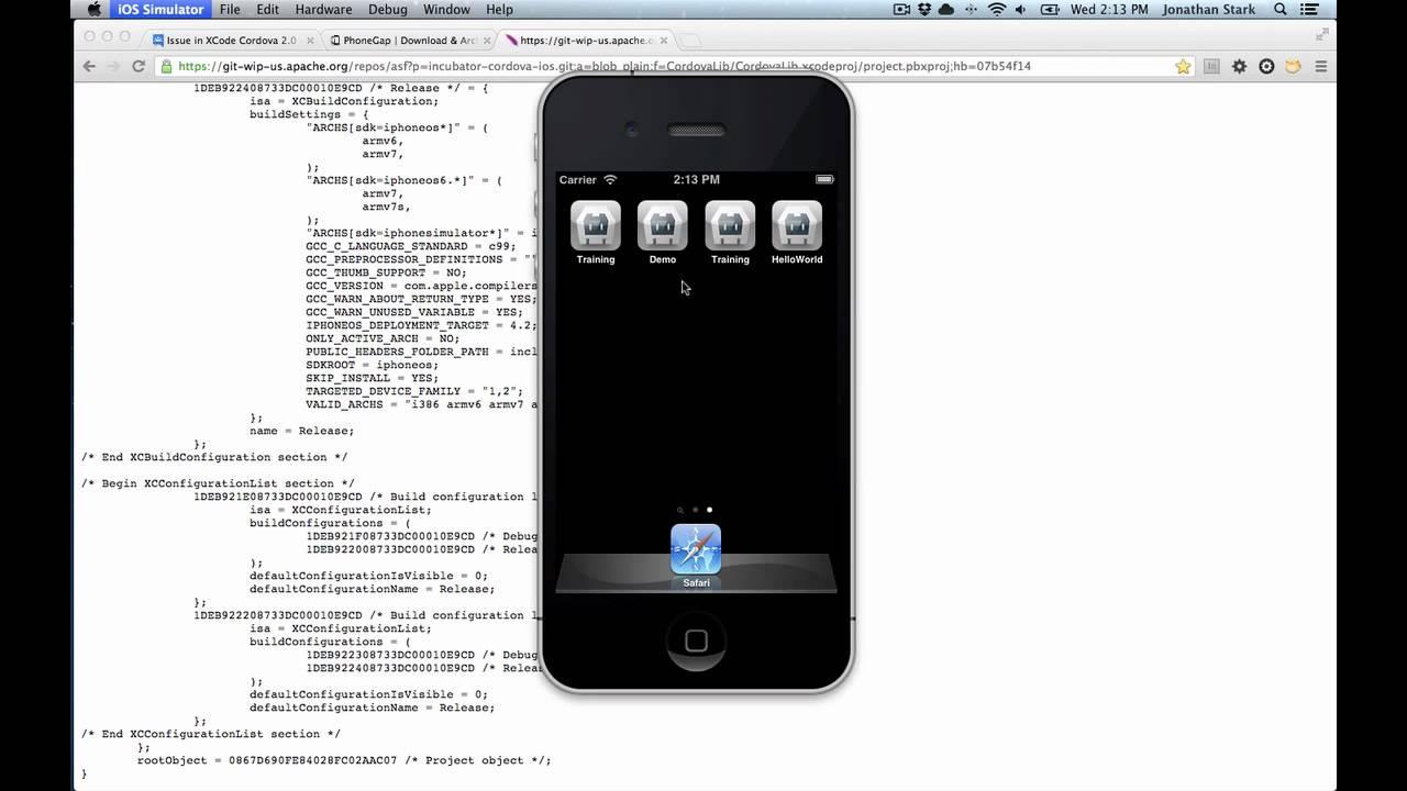 Possible Fix for PhoneGap Cordova Xcode Build Error