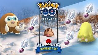 Shiny Swinhub to Mamoswine - February 2019 community day - Pokemon Go