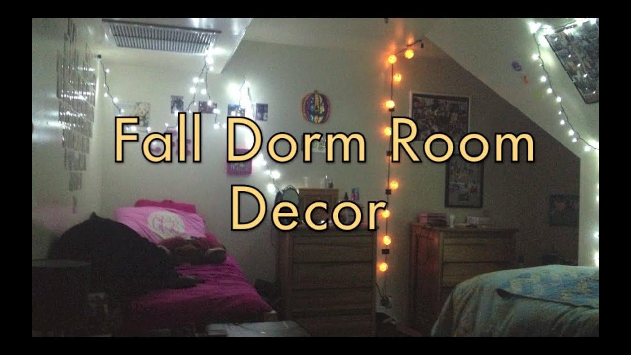 fall dorm room decor!!!! - youtube