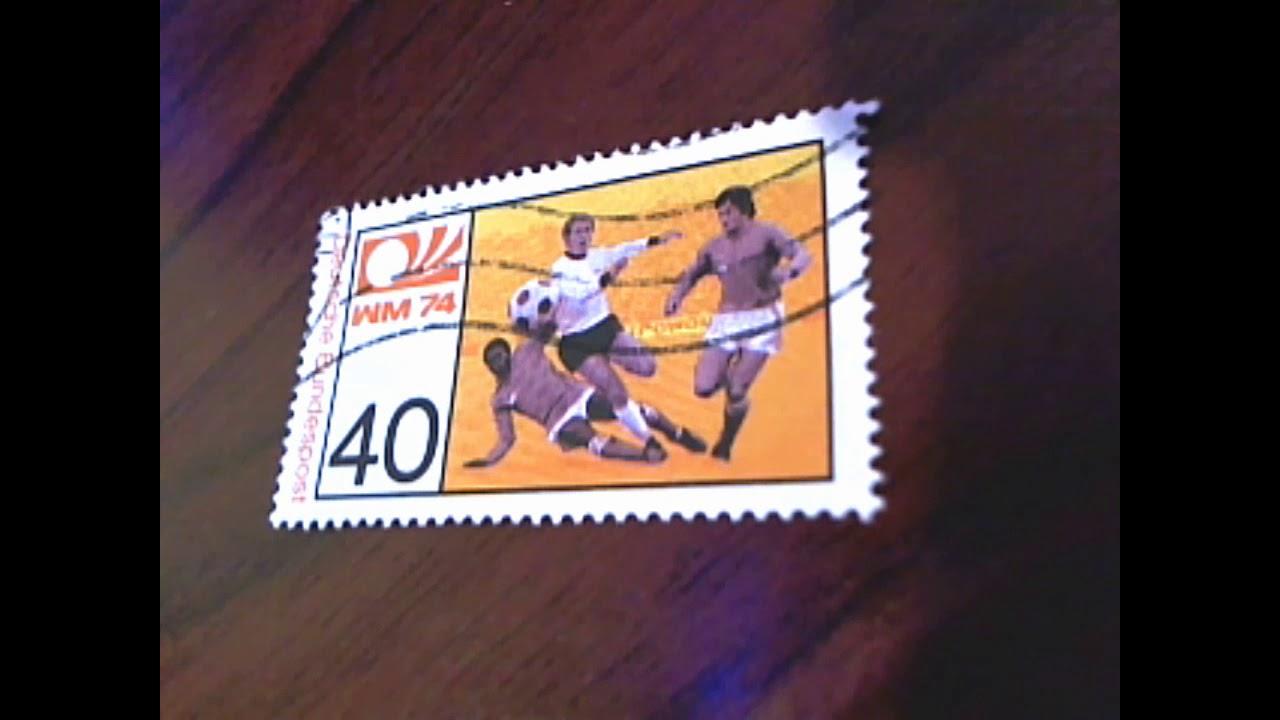 Briefmarke Deutsche Bundespost Fußball Wm 40 Pf 1974 Youtube