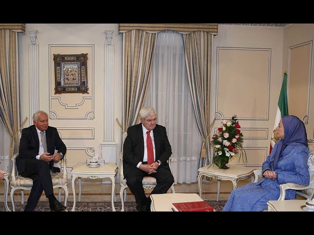 Maryam Rajavi meets with former US House Speaker Gingrich and Senator Torricelli