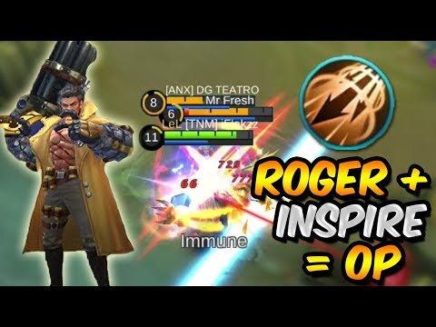 ROGER PERFECT GAMEPLAY WITH INSPIRE *OP* – MOBILE LEGENDS