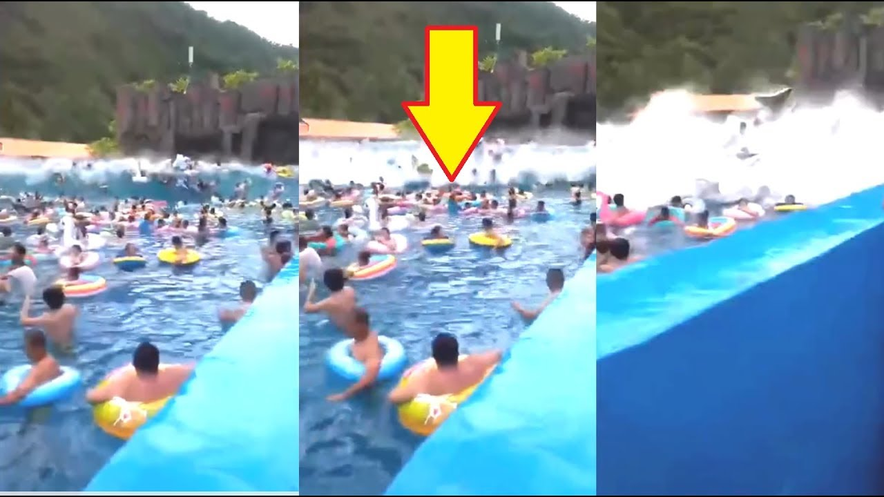 WTF, Did i just Watch? - Water Park 'tsunami' injures 44 People!