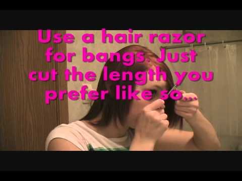 How To Cut Your Own Hair Style Scene Emo Youtube