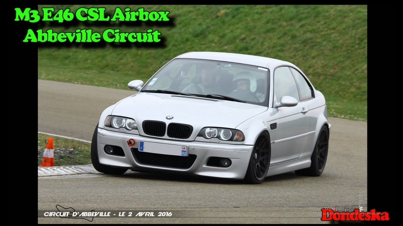 bmw m3 e46 csl airbox abbeville circuit youtube. Black Bedroom Furniture Sets. Home Design Ideas