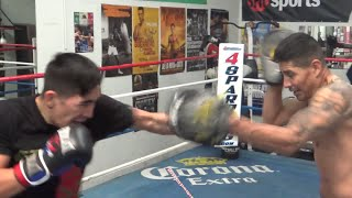 Leo Santa Cruz BACK IN GYM!! PUTTING IN WORK!! NO DAYS OFF!!! - EsNews Boxing