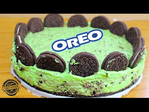 No Bake Oreo Mint Cheesecake recipe YouTube