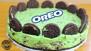 No Bake Oreo Mint Cheesecake recipe