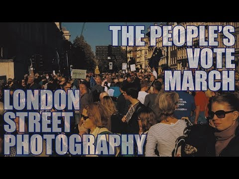 London Street Photography at the Peoples Vote March