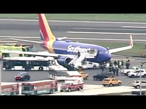 """It felt like a freefall"": Southwest Airlines plane makes emergency landing in Philadelphia"