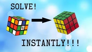 How To Solve A Rubiks Cube No Algorithms!!! - Easiest Tutorial