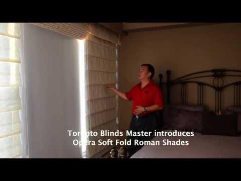 Toronto Blinds Master - Opera Soft Fold Roman Shades