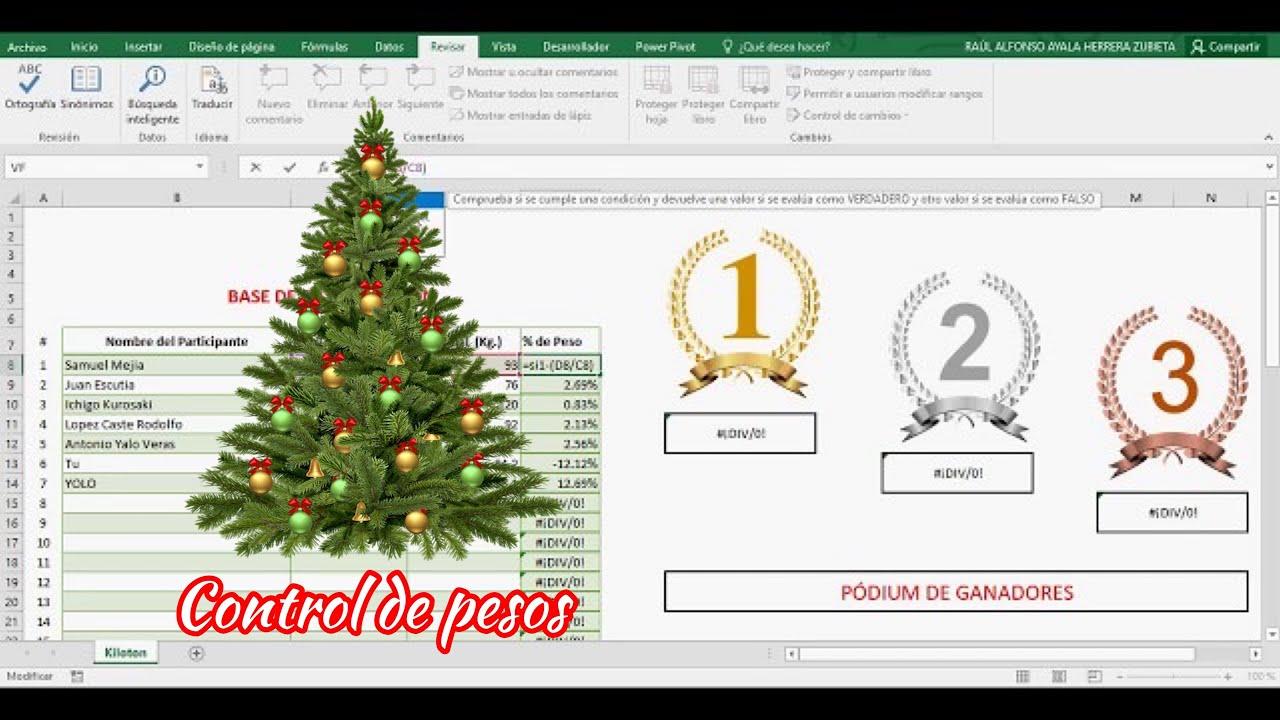 Plantilla de Excel para CONTROL DE PESO en la oficina - Kiloton