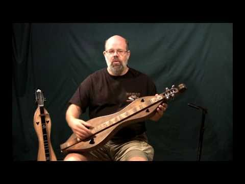 Map of the Mountain Dulcimer and how it relates to piano keyboard