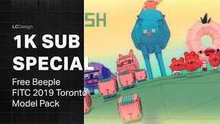 1k Sub Special- Free BEEPLE Cinema 4D Model Pack FITC 2019 Toronto (@LuisMiranda4D)
