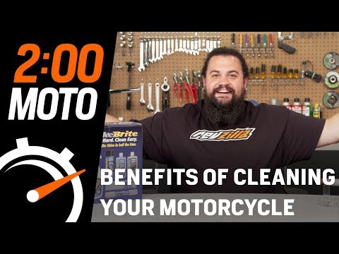 2 Minute Moto - Benefits of Cleaning Your Motorcycle