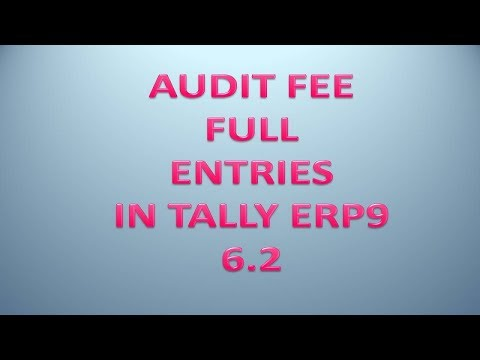 Audit Fee/Charges Entry in Tally Erp9 6.2 || Full Explain RCM And TDS on Audit Fee In Tally