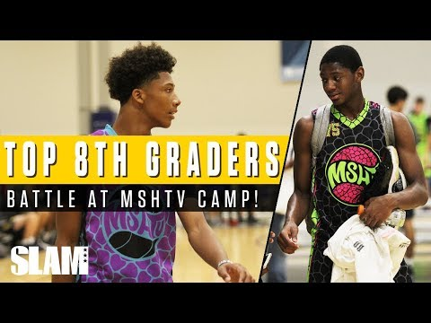 Mikey Williams and Elijah Fisher fight for #1 ranking! Top 8th Graders matchup at MSHTV Camp | SLAM