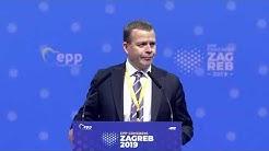 Petteri Orpo, opposition Leader, Finland (Zagreb Congress)