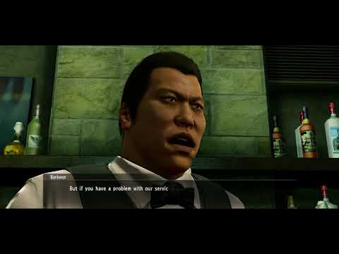 Yakuza Kiwami - The Price of An F-Cup Sub Story: Mai Confronted, Bartender Fight Gameplay (2017)