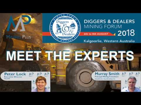 Mining Plus - Underground Experts attending Diggers & Dealers 2018
