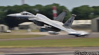 Spectacular & Low Take-offs !!!  RIAT17 Monday Depatures