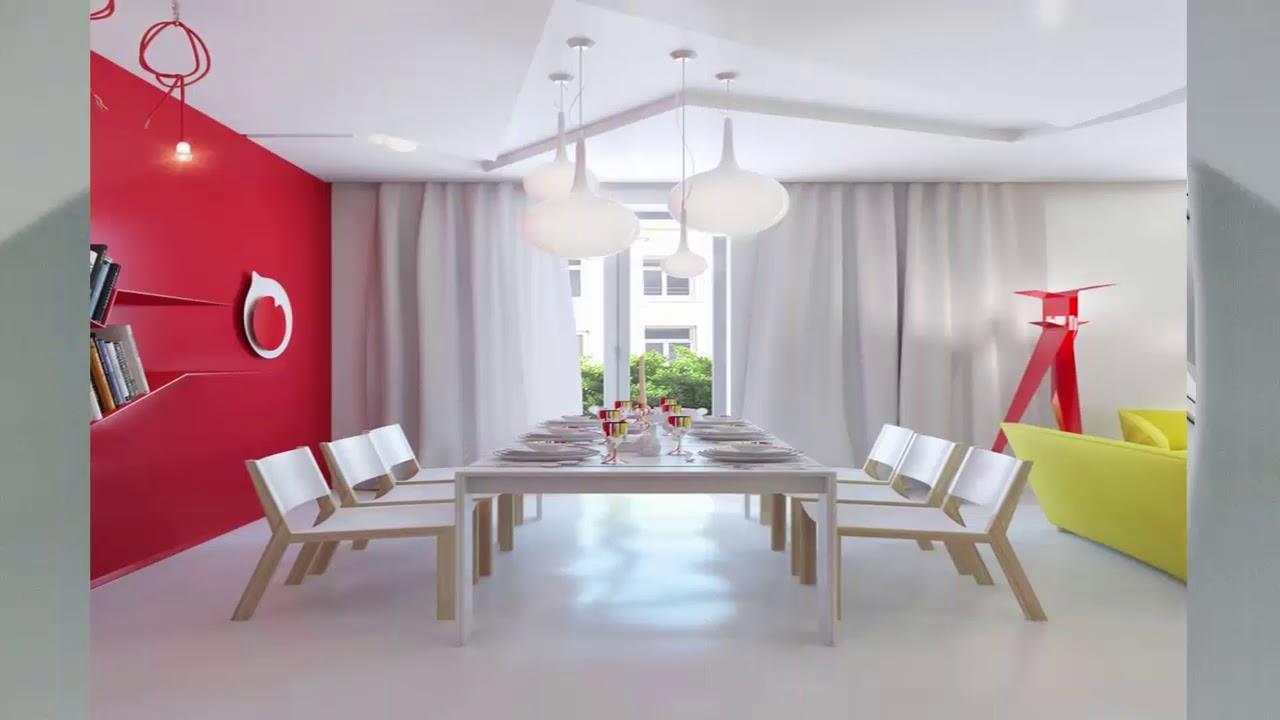 75 Beste Moderne Wandgestaltung Esszimmer  Haus Ideen  YouTube