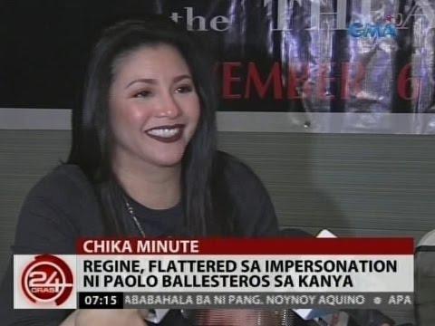 24Oras: Regine Velasquez, flattered sa impersonation ni Paolo Ballesteros sa kanya