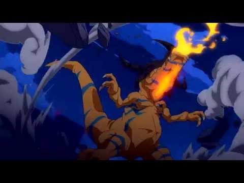 DIGIMON TRI - Reunión - Greymon Vs Kuwagamon Brave Heart ~ tri.version