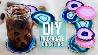 DIY Faux Agate Coasters TUMBLR Inspired