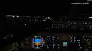 P3D v3.4 PMDG 777-300ER Korean air landing at GImhae (Busan,PUS,RKPK) with cockpit view and fs2crew