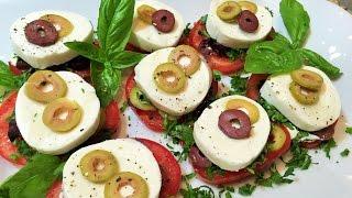 АППЕТИТНАЯ ЗАКУСКА за 5 минут  из помидоров. Просто и вкусно!  Appetizer of tomato.