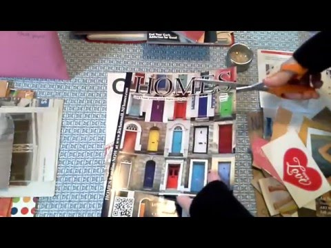 Processing magazines for use in art projects