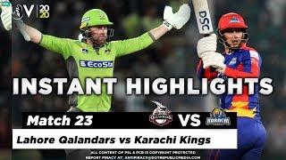 Lahore Qalandars vs Karachi Kings | Full Match Instant Highlights | Match 23 | 8 March | HBL PSL 5
