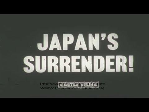JAPAN SURRENDERS Silent NEWSREEL  TOKYO BAY 1945 2132