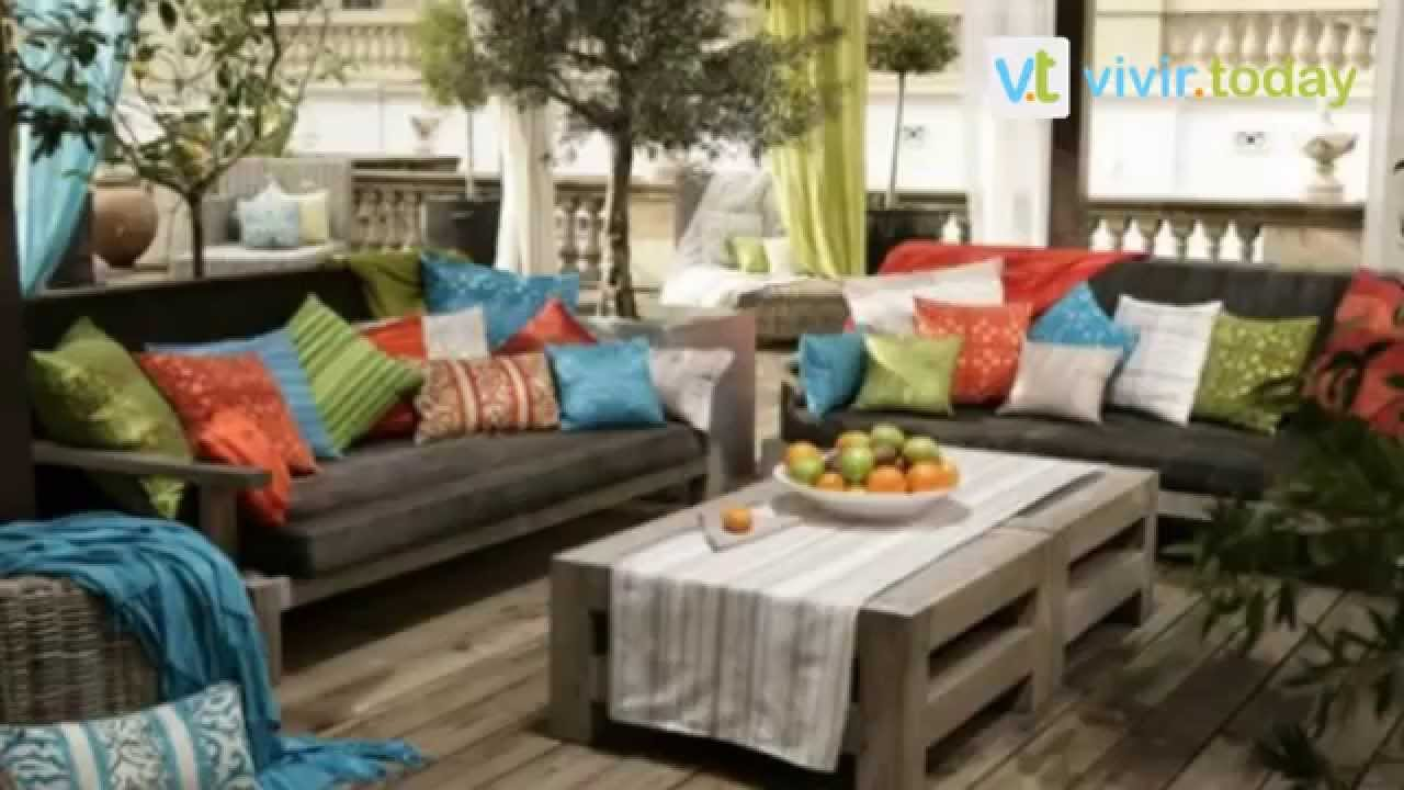 25 creativas ideas para decorar tu terraza y jardin youtube - Cojines de exterior ...