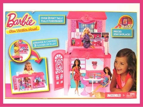 BARBIE - GLAM VACATION HOUSE - DOLL HOUSE REVIEW