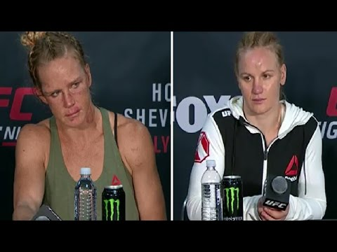 Emotional Holly Holm & Valentina Shevchenko Post Fight Presser Highlights
