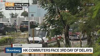 Hong Kong Protesters Disrupt Commutes, Shut Schools
