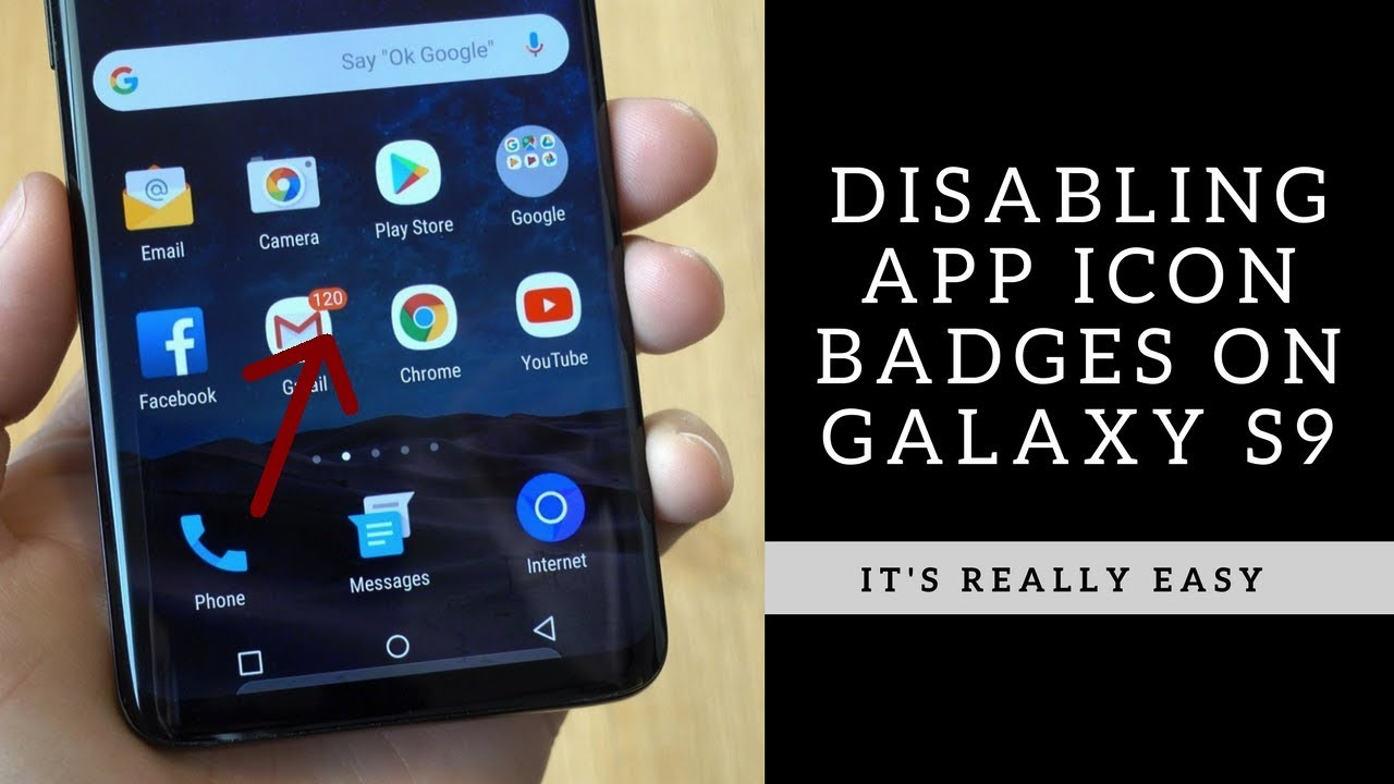 How To Disable Icon Notification Badges On Galaxy S9 Youtube