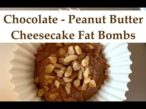 keto-diet-||-chocolate-peanut-butter-cheesecake-fat-bombs-||-recipe