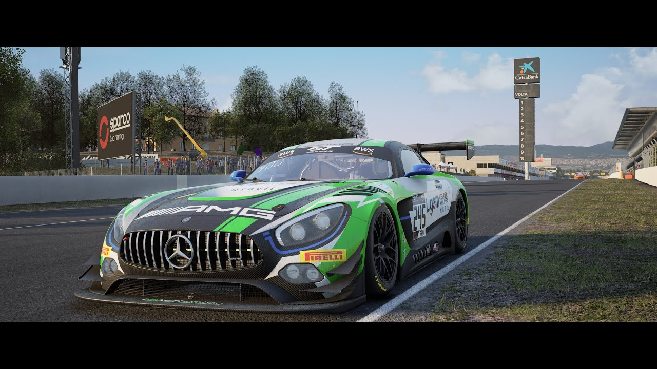 Assetto Corsa Competizione BUMPING & BANGING Multiplayer CP Online Race @ Barcelona / AMG GT3