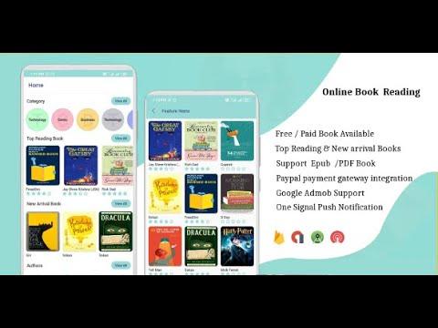 IOS EBook App (Books App, PDF, Download Books, Paid Book, Payment Gateway) + Admin Panel