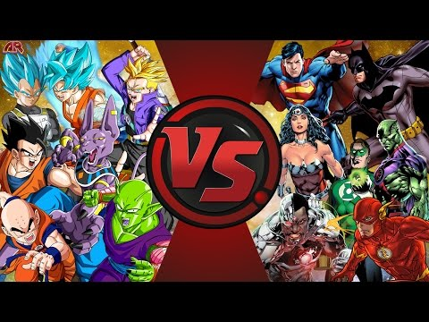 Z-FIGHTERS vs JUSTICE LEAGUE! TOTAL WAR! (Dragon Ball Z vs DC Comics) Cartoon Fight Club Episode 164
